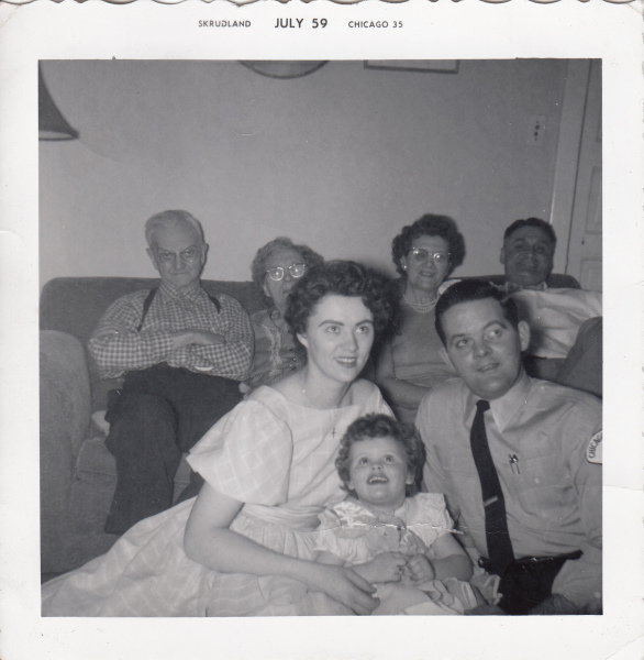 Kim, her parents and some family members
