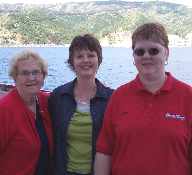 Barbara, Kim and Tracy on a cruise