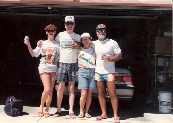 Kim, me, Marla & Mickey