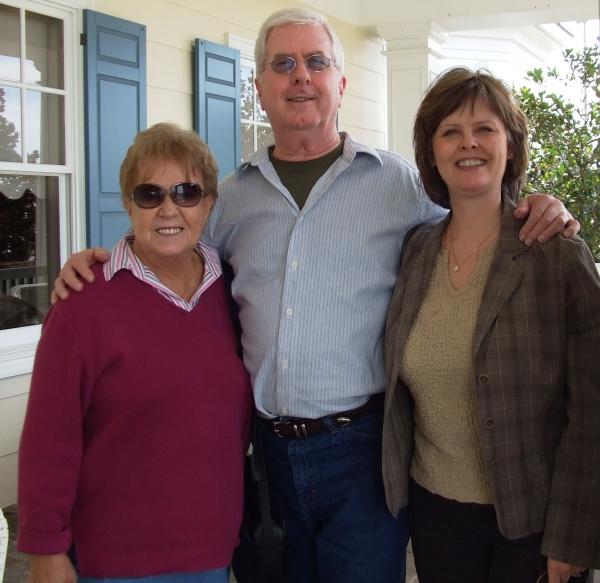 Aunt Betty, me & Kim