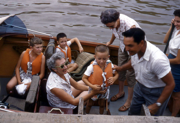 A boatload at the family camp
