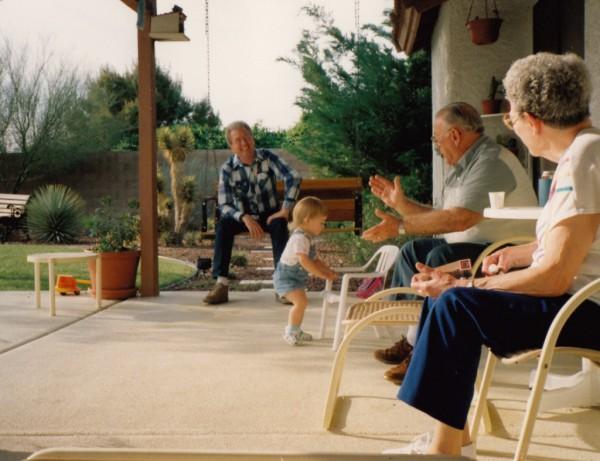 Me, Samantha, Gramps & Nana