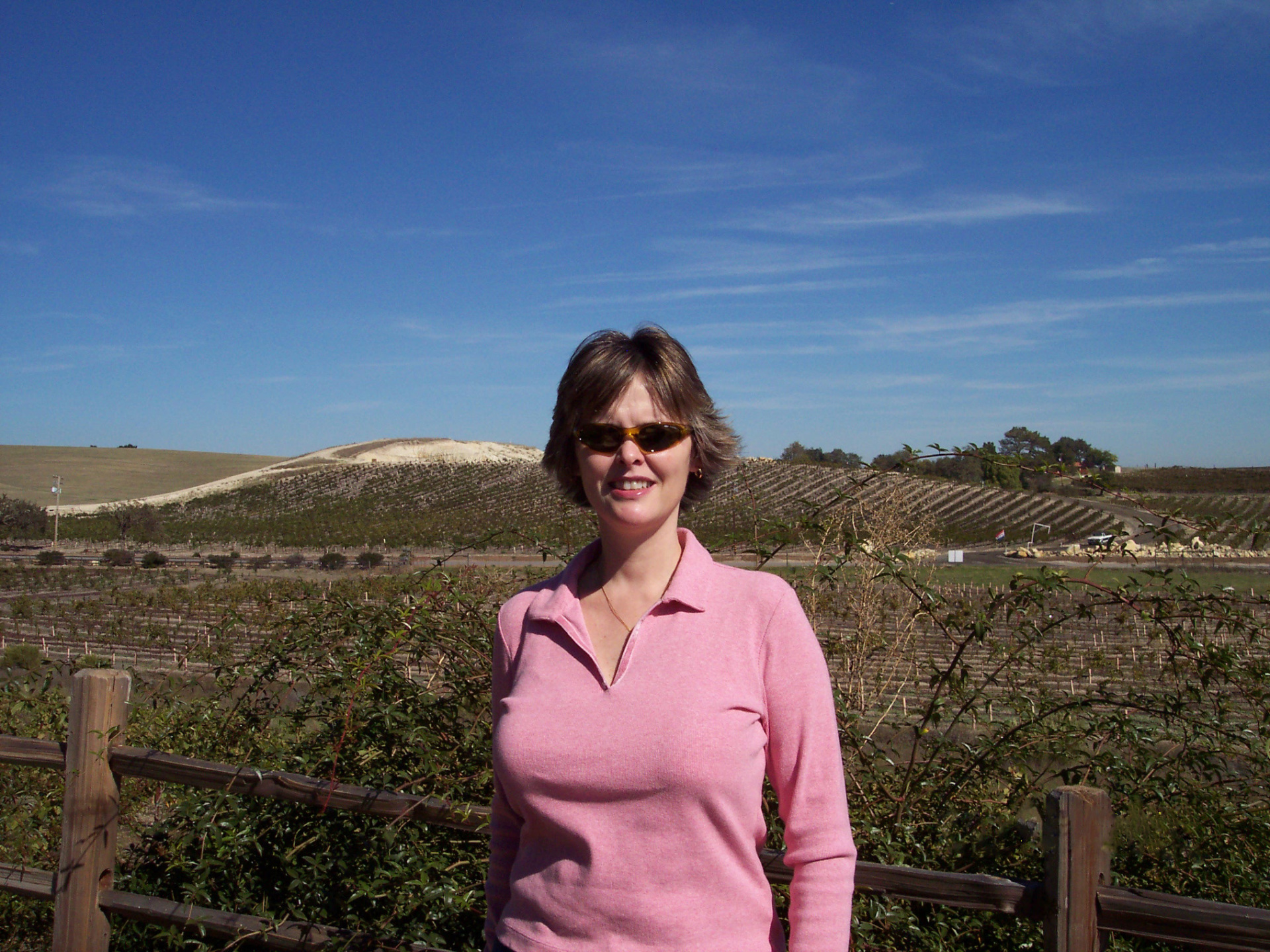 Kim in a Central California vineyard