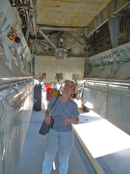 Kim in B-52 bomb bay