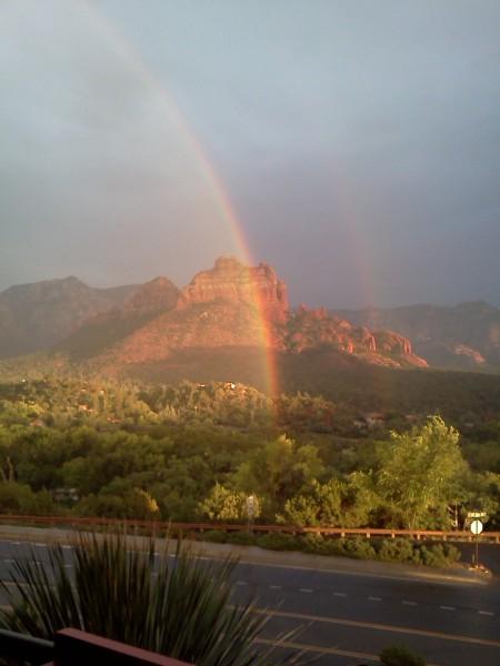 Double rainbow in Sedona