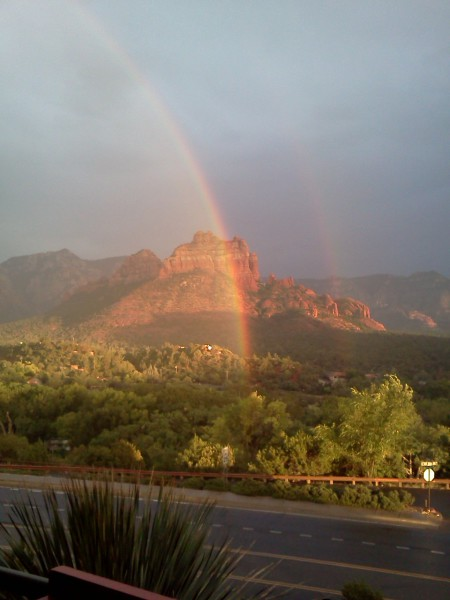 Double rainbow in Sedona