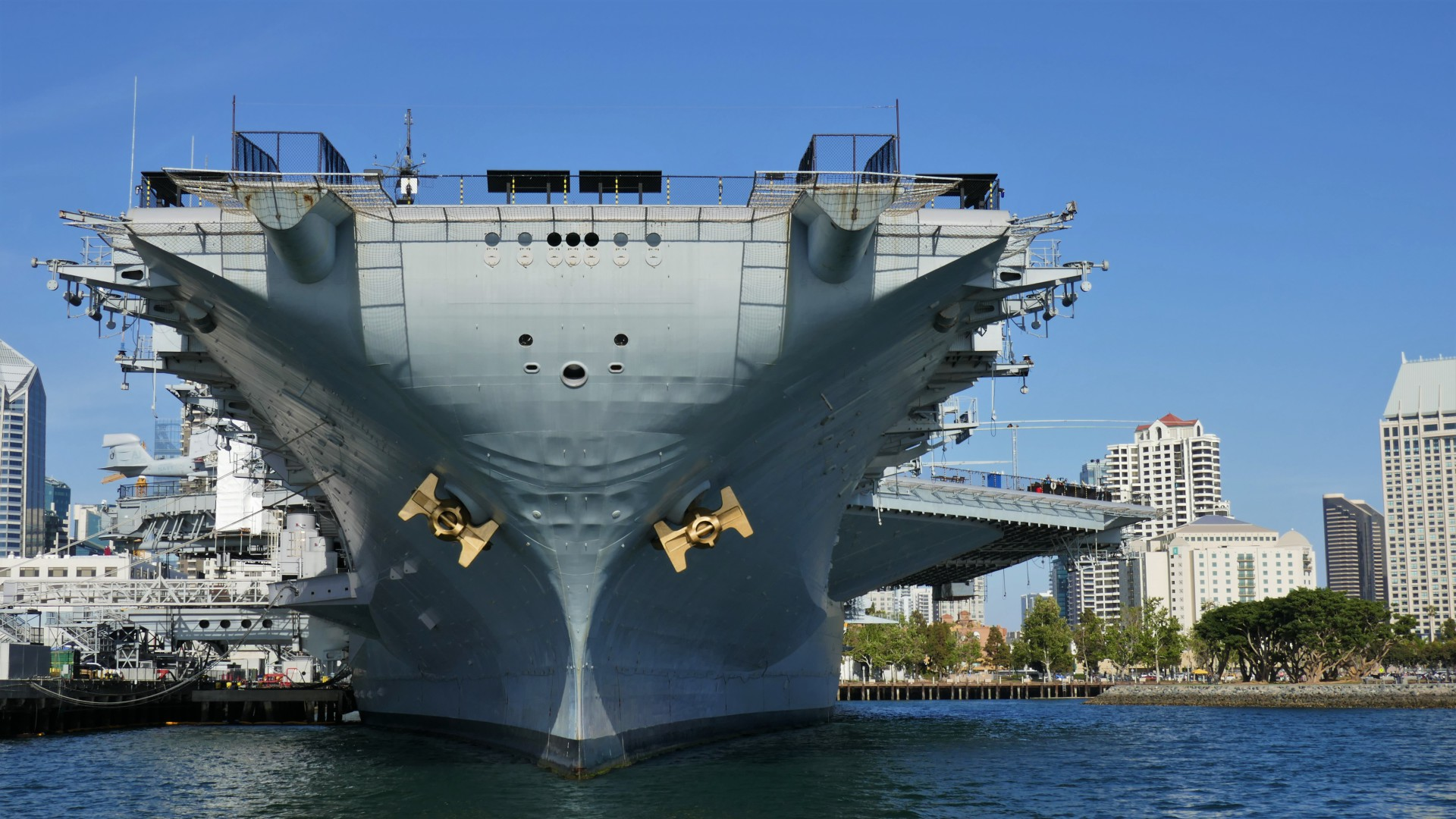 The bow of the USS Midway
