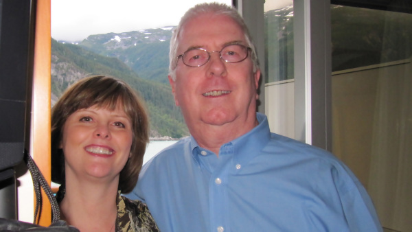 In our cabin on an Alaskan Cruise