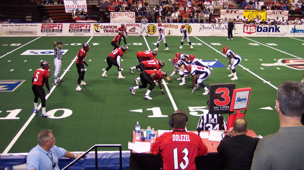 Las Vegas Gladiators game in the Thomas & Mack
