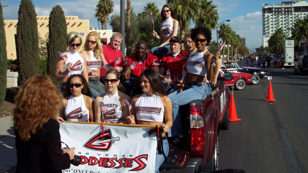 Las Vegas Gladiators crew ready for the parade
