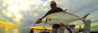 Luke with his PB Queenfish taken on 4lb braid