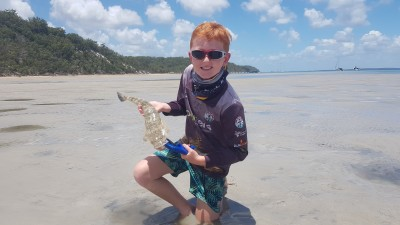 My Eldest Son Liam with a Nice Flathead