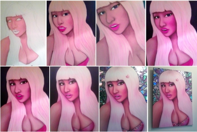 Niki Minaj - Painting in Progress!