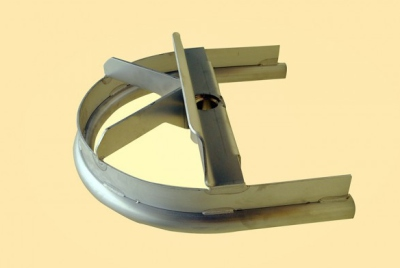 Linco Style Stainless Steel Sani Track Bend 180°