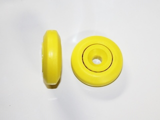 Yellow Wheel With Plastic Inner Race