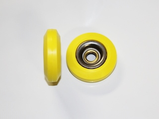 Yellow Wheel With Stainless Steel Inner Race