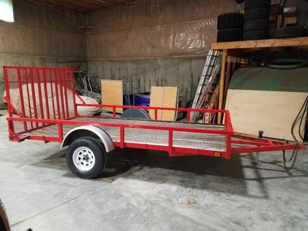 12' Red Utility Trailer