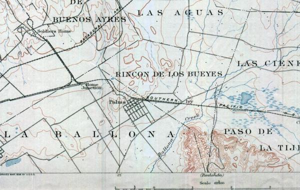 1896 United States Geological Survey Map