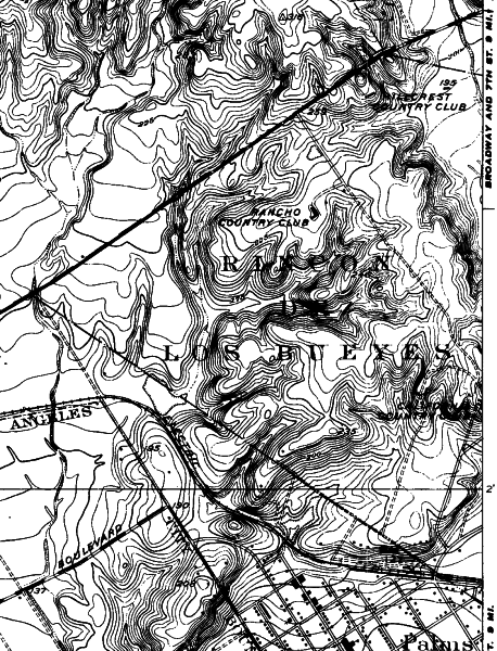 1925 United States Geological Survey Map