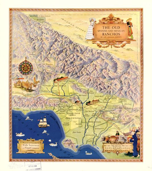 Map of Spanish and Mexican Ranchos