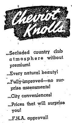 Cheviot Knolls (1938)