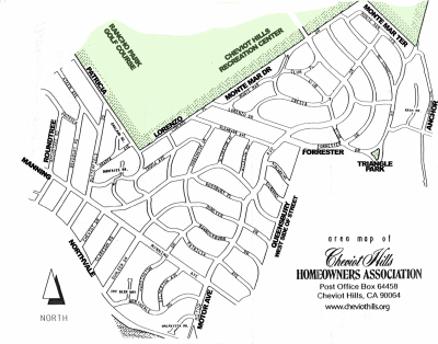 Cheviot Hills Homeowners' Association Territory (1963)