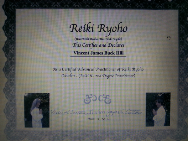 Reiki, certificate, Usui Reiki