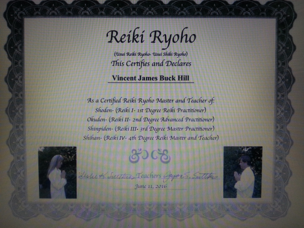 reiki, certification, Usui Reiki