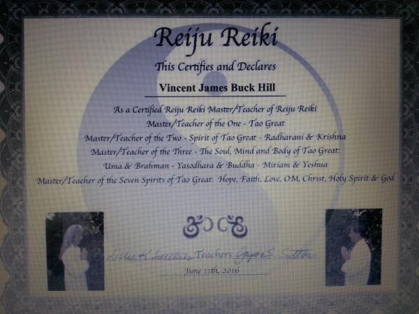 reiki, certification, Reiju Reiki