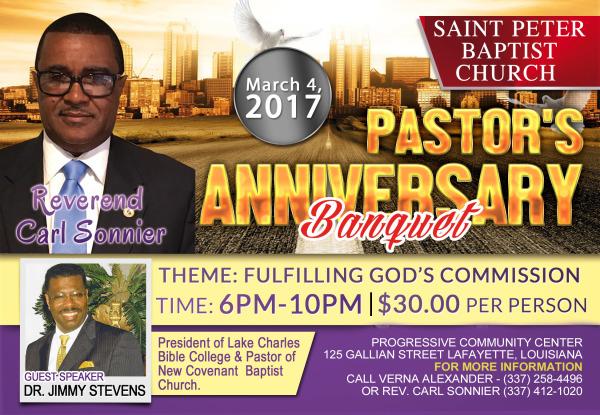Pastor's Anniversary- Rev. Carl Sonnier