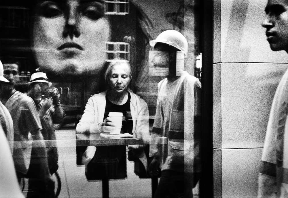 Street photography, Los Angeles Mon amour, Leica, black and white, coffee shop