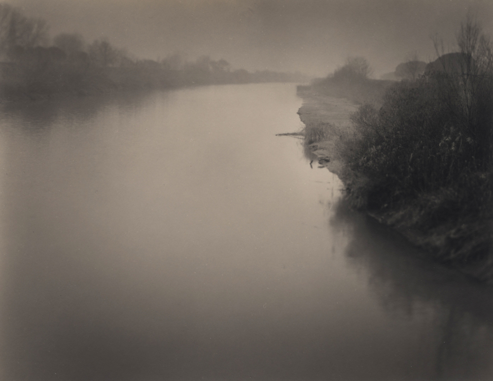 Italy, large format photography, sepia, analog photography, Italian landscapes, Italian cityscapes, Domenico Foschi, river,