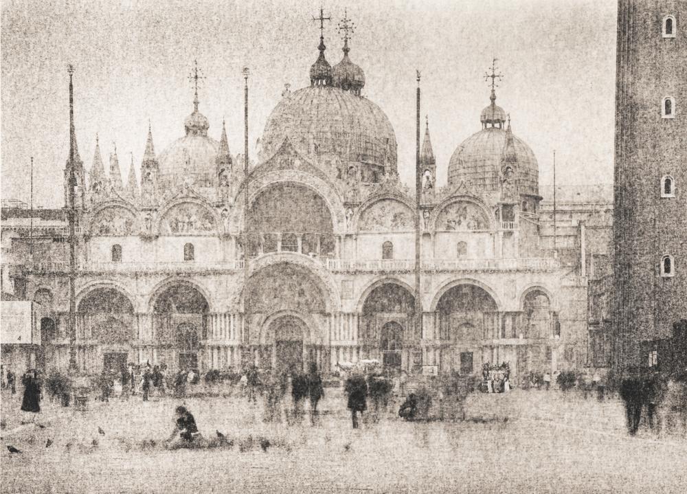 Italy, large format photography, sepia, analog photography, Italian landscapes, Italian cityscapes, Domenico Foschi, Venezia, venice Saint Mark's square, Piazza San Marco