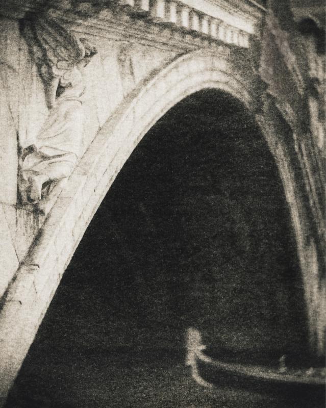 Italy, large format photography, sepia, analog photography, Italian landscapes, Italian cityscapes, Domenico Foschi, v nice, Venezia, Rialto Bridge, Gondola