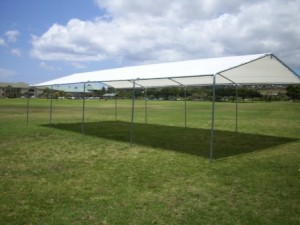 Tent w/White Tarp
