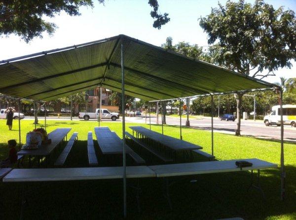 Tent w/Silver Tarp