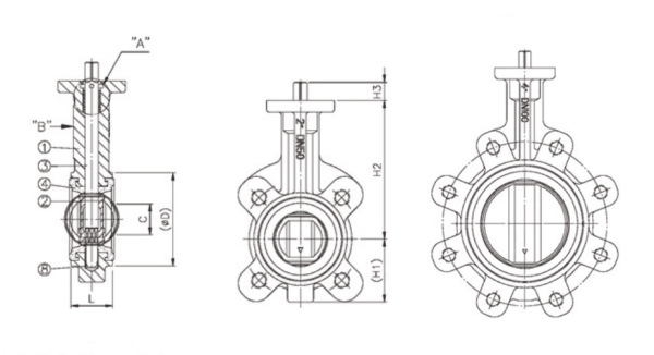 Stainless Steel Butterfly Valve dwg