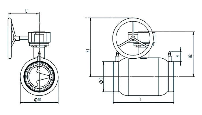 Static balancing ball valve