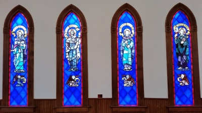 The Stained Glass Apostles Saints, authors of the Gospel of Jesus Christ