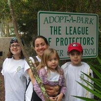 Adopt a Park Sign (Bloody Marsh Park, St Simon Island)