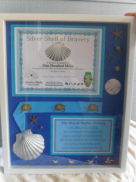 One Hundred Miles Silver Shell of Bravery Award