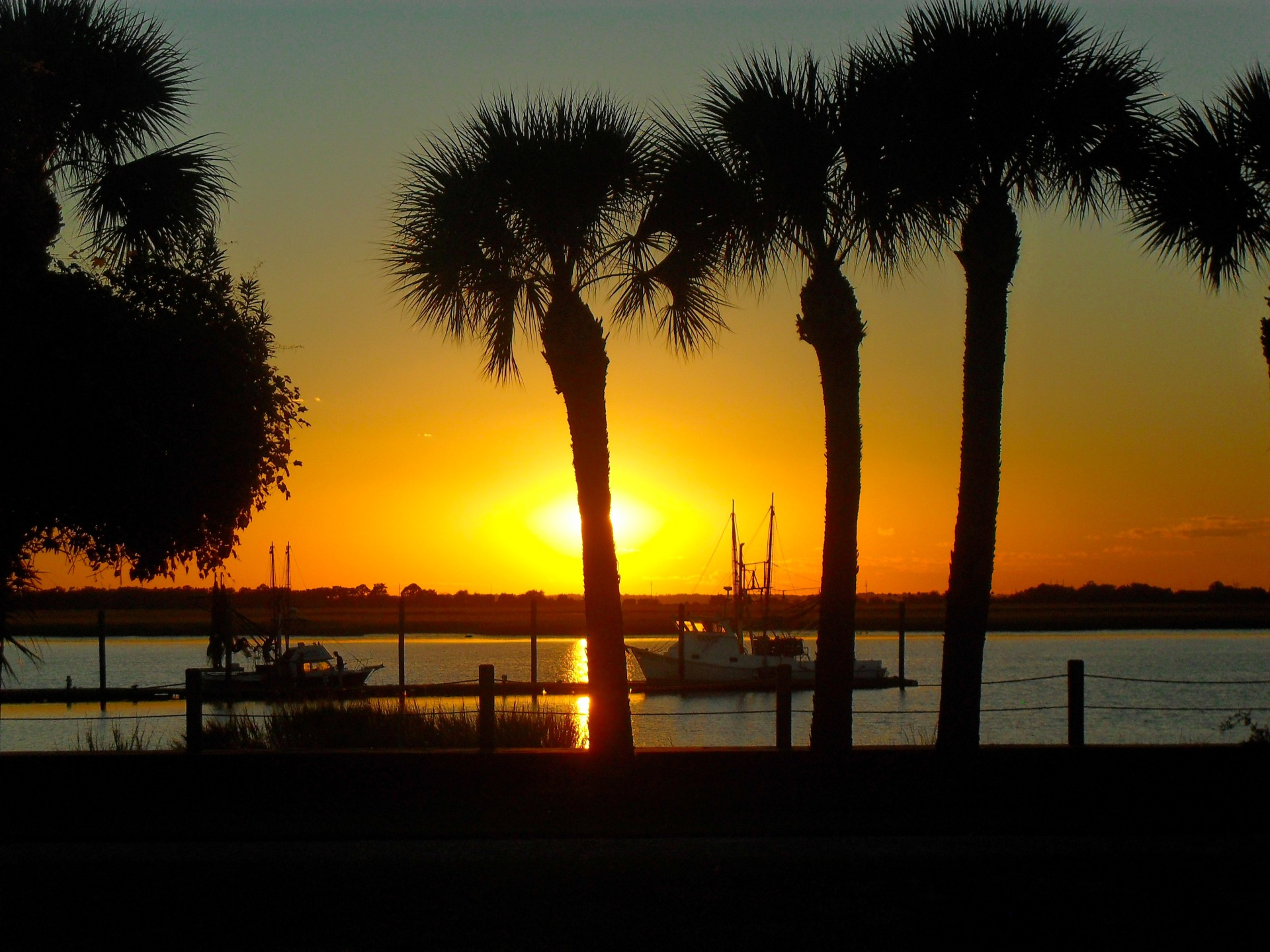 Sunset over Jekyll Island Wharf
