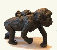 Award Winning Sculptor Patty Hillman Sculptures, Palm Coast, FL.  Member of Flagler County Art League, St. Augustine Art Association.  Sculptor Painter Award Winning Sculpture - A Mother's Love - A mother gorilla with her baby gorilla riding on her back.