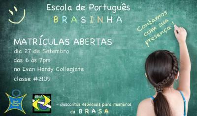 Brasinha - Portuguese Class Registration Day