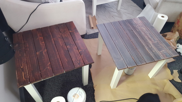 Whitewashing Plank-Top Tables