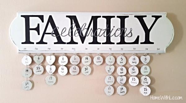Family Celebrations Calendar