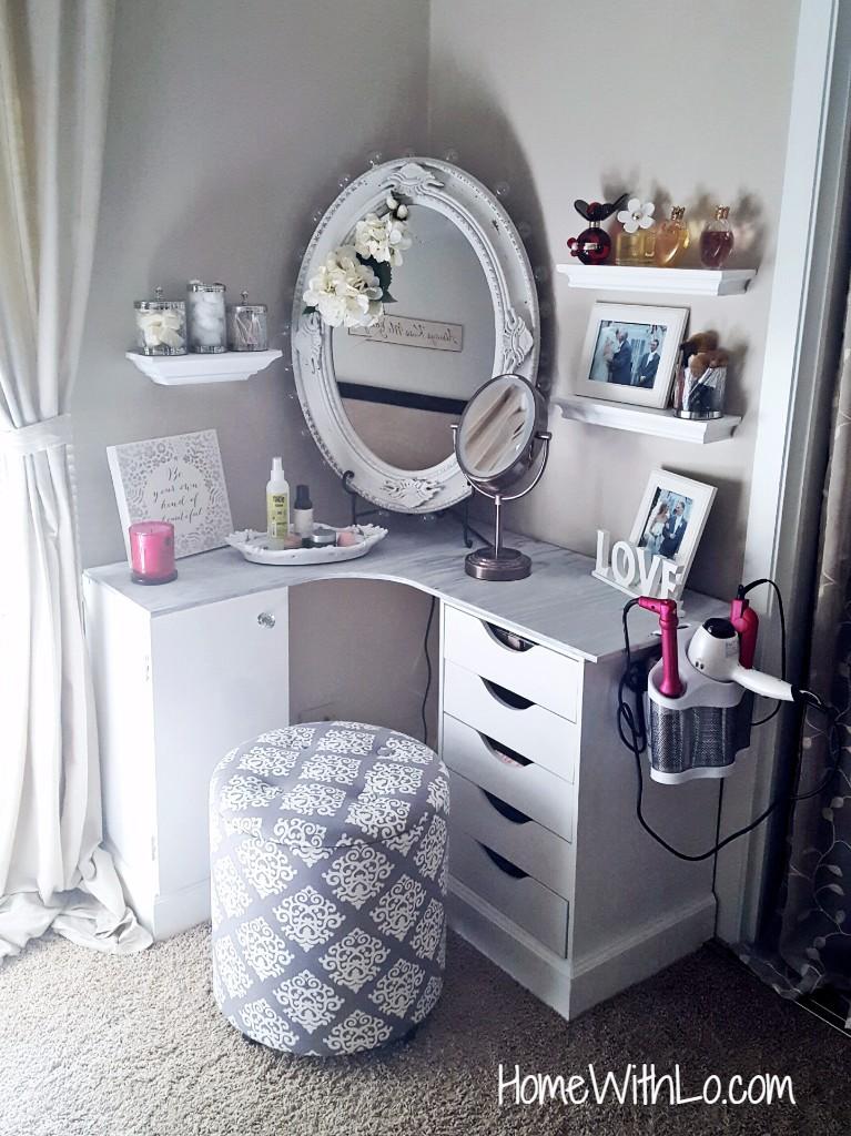 Diy Corner Makeup Vanity Ideas