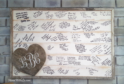 Wedding Signature Board