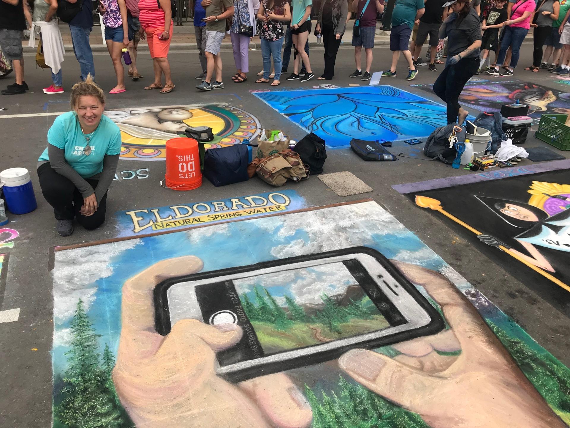 Chalk Fest 2016 Van Gogh