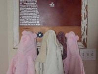 handmade, vintage, industrial coat rack, hooks, knobs, custom, wall art, home decor